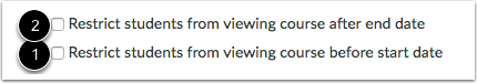 View Restriction Options