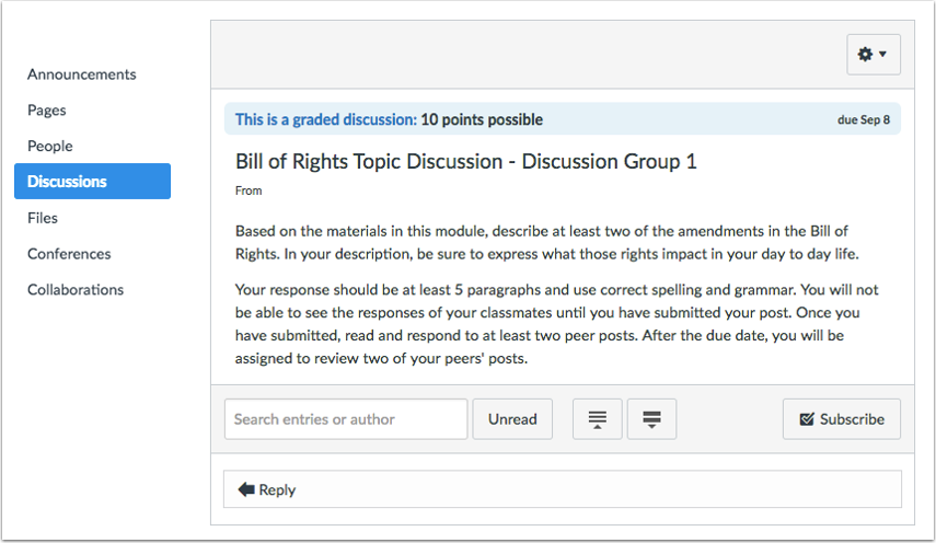 View Group Discussion