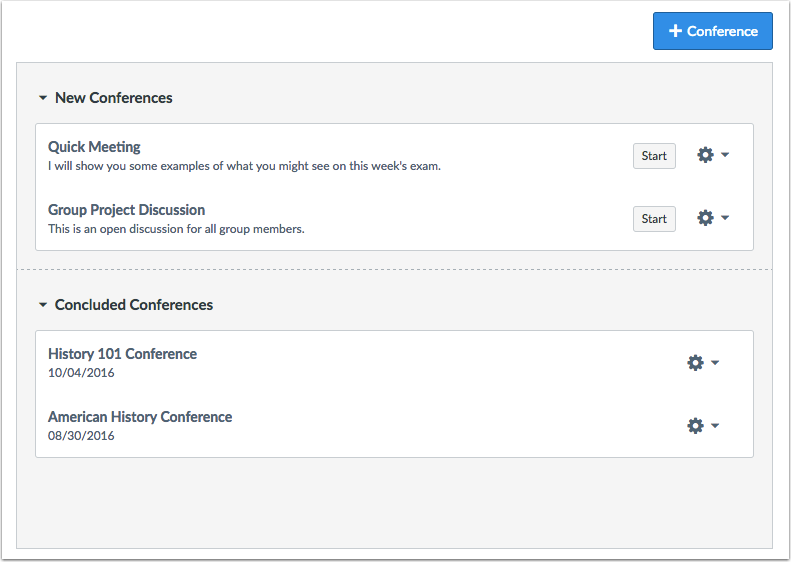 When would I use Conferences?