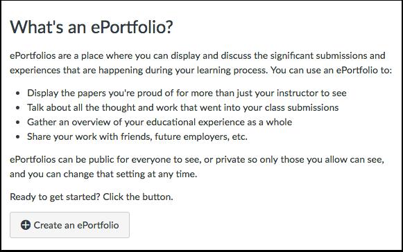 When would I use ePortfolios?