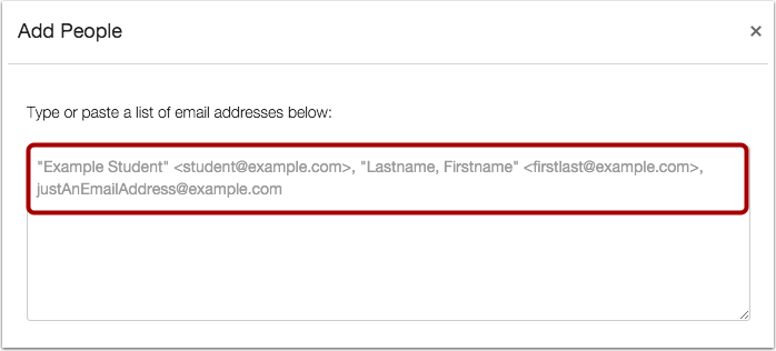Submit Email Addresses