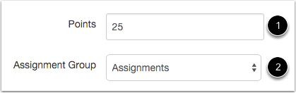 Assignment Points & Groups