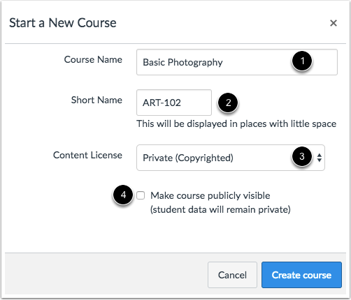 Add Course Details