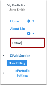 Add Section Name