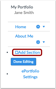 Add Section