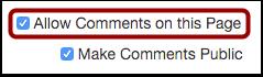 Enable Comments
