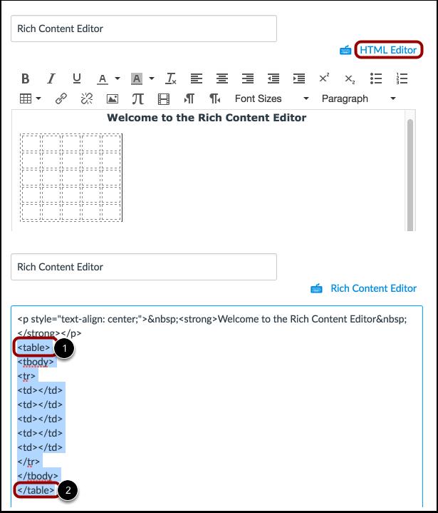 Delete Using HTML Editor