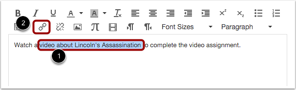Hyperlink Existing Text