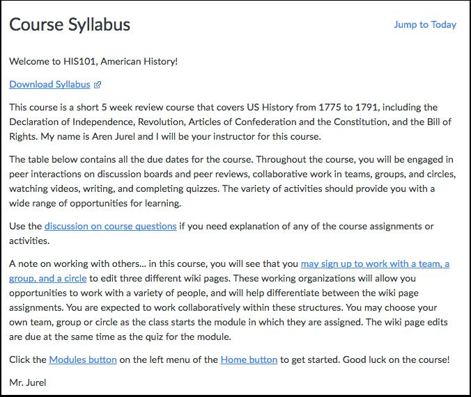 View Syllabus Description