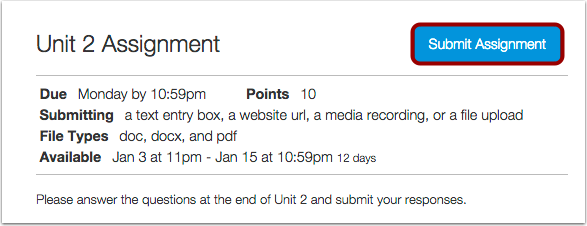 Assignment submit