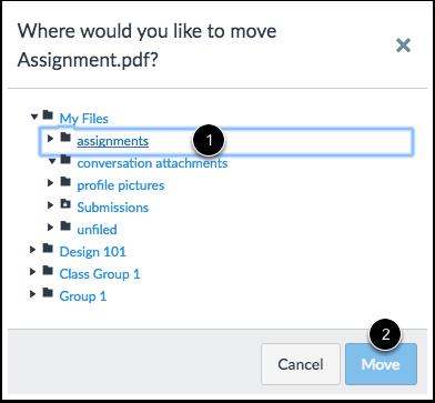 Choose New File Location