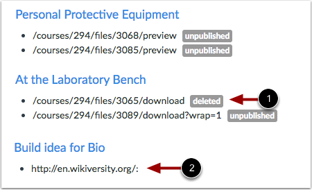 View Link Labels
