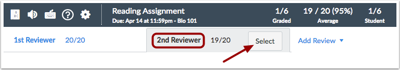 View 2nd Reviewer Grade