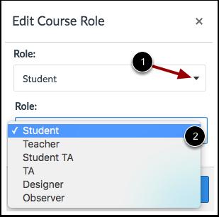 Edit Course Role