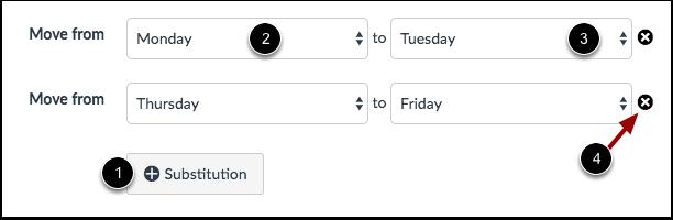 Create Substitution Dates