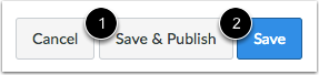 Save and Publish