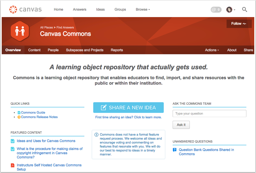Ver la Comunidad de Commons