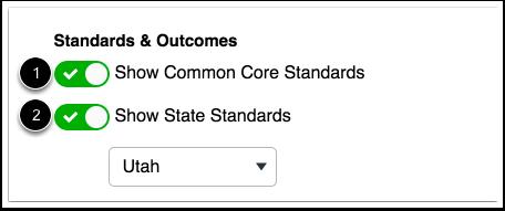 Editar estándares y resultados