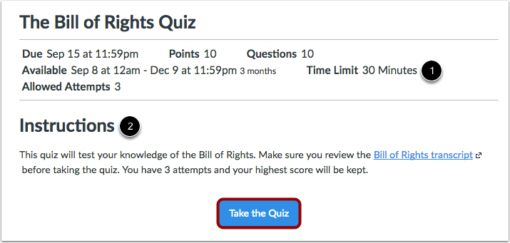 View Open Quiz