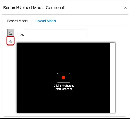 Sélectionner l'option d'enregistrement audio