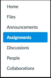 Click Assignments Link