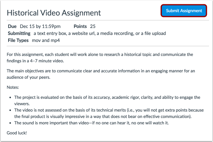 Submit Assignment