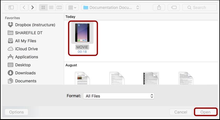 Select Media File