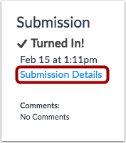 View Submitted Assignment