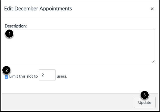Edit Appointment Details
