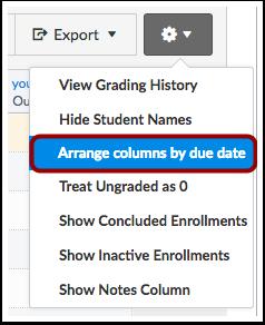 Arrange Columns by Due Date