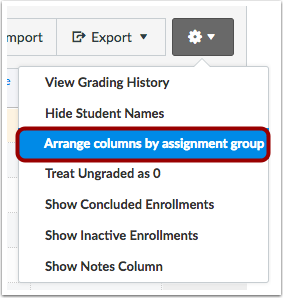 Arrange Columns by Assignment Group