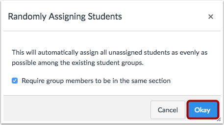 Confirm Assignments