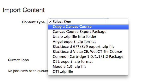 Import Course Content: Getting Started with Canvas