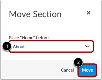 Move Section