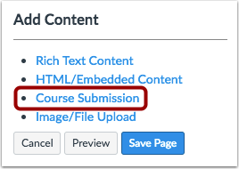 Open Course Submission
