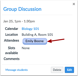 Remove Attendees