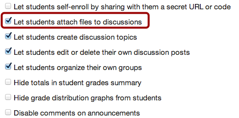 Allow Students to Attach Files