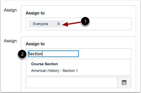 Assign to Section