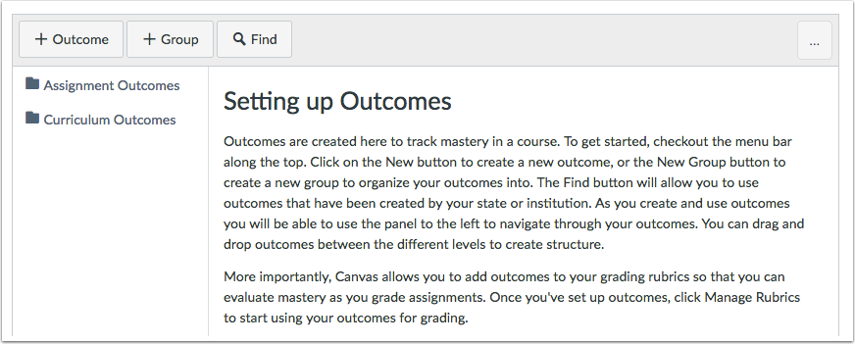 Account or Course Outcomes