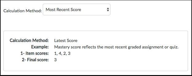 Most Recent Score