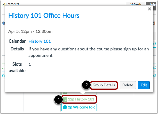 Open Appointment Group