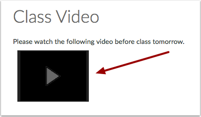 Open Video in Canvas Content
