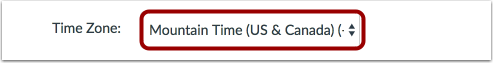 Set User Time Zone