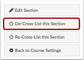 De-Cross-List This Section