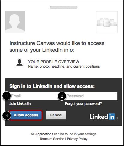 Log in to LinkedIn
