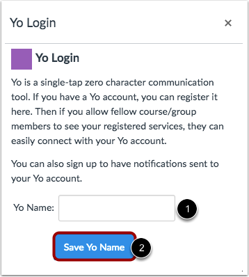 Log in to Yo