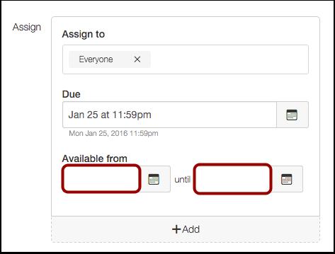 Limit Submission Date Range