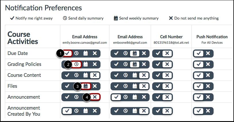 Set Notification Preferences