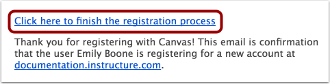 Finish Registration