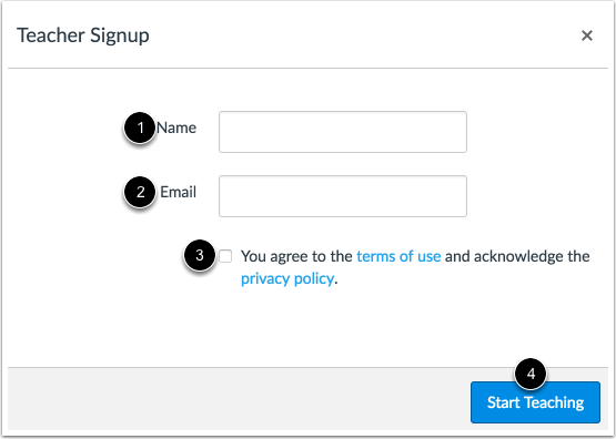 Sign Up for Your Account